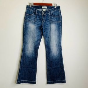 Maurices Flare Leg Mid Rise Jeans